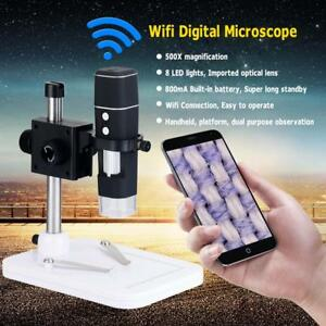 Wifi Wireless 500x 2mp Camera Digital Microscope Magnifier Usb For Ios Android