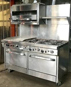 Used Southbend Nat Gas Range With 6 burner With 24 Thermostatic Griddle 2 Oven