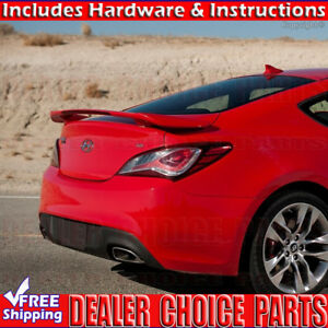 For 2009 2016 Hyundai Genesis Coupe Factory Style Spoiler Wing W led Unpainted