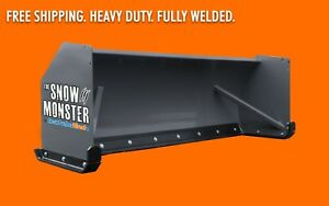 8 Heavy Duty Skid Steer Snow Pusher Free Shipping Bobcat Caterpillar Case