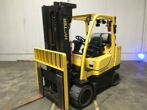 2015 Hyster S100ft 10000 Lb Capacity Lp Gas Cushion Tire Forklift Only 3496 Hrs