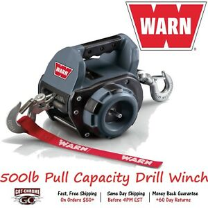 910500 Warn Drill Winch Handheld Portable Powered By Standard Portable Drill