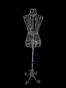Female White Steel Wire Mannequin Dress Form 32 22 32 On Decorative Stan New