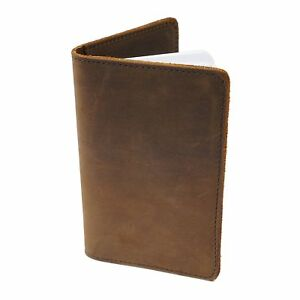 Slc Refillable Leather Journal Cover For Field Notes Notebooks New