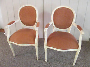 57627 Pair Ethan Allen Bergere Armchair Chair S Louis Xv