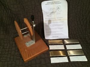 Kingsley Foil Machine Ribbon Attachment 40 Cawley Plates 40 Proof Plates Nos
