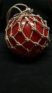 Japanese Fishing Float With Netting Red