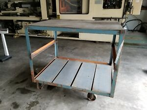 Warehouse Cart Heavy Duty 2 Shelves Storage Industrial Storage