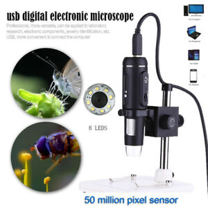 1000x Usb3 0 Leds Digital Electronic Microscope 5mp Camera Magnifier With Stand