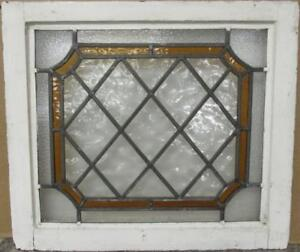 Mid Sized Old English Leaded Stained Glass Window Diamond Lead 23 75 X 20 75