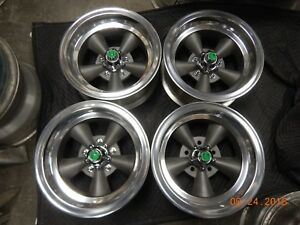 Vintage Set Ansen Deep Corvette Off Set Torq Thrust Wheels Chevelle Camaro Ss