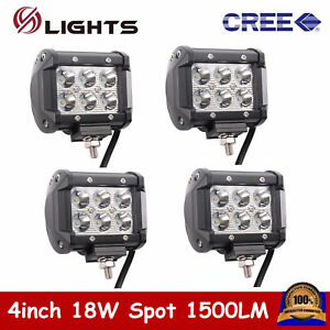 4x 18w 4inch Spot Led Work Light Suv Ford Vehicle Atv Barra Boat 4wd Offroad 4