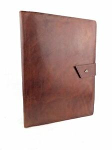 The Bridge Extra Large A4 Chestnut Brown Leather Organiser Conference Folder