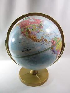 Vintage Replogle Double Dual Axis Globe World Nation Series Raised Topography 12