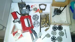 Rare Lee challenger progressive attachment 4 tool heads Measure+7 disks andmore!