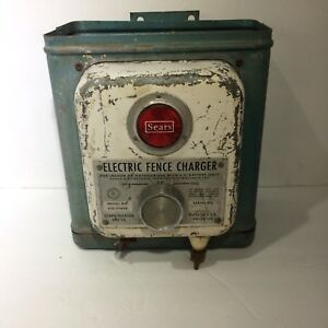Vintage Sears Roebuck Electric Fence Charger Model 436 77670 Industrial