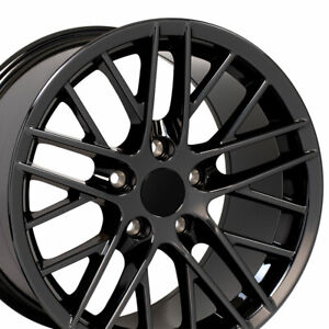 Set Wheels Fit Corvette Camaro C6 Zr1 Black Chrome Rims 5402 Oew