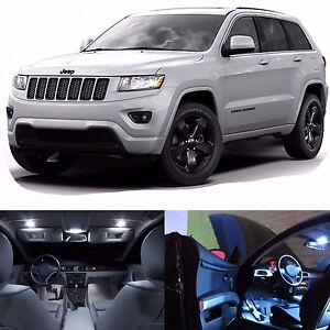 Led Lights Interior Package Kit For Jeep Grand Cherokee 2011 16 Bulbs White