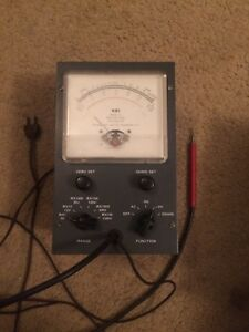 Nri National Radio Institute Vacuum Tube Voltmeter Model W Volt Meter