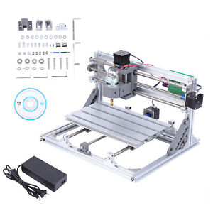 Diy Mini 3 Axis 3018 Cnc Laser Machine Pcb Milling Router Engraver 775 Spindle