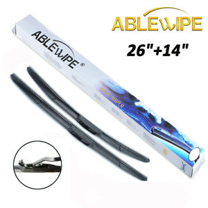 Ablewipe Front 26 14 Windshield Wiper Blades Fit For Kia Forte 2014 2018