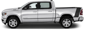 Tail Rocker Accent Vinyl Graphic Decal Stripes For Dodge Ram 1500 2019 Up