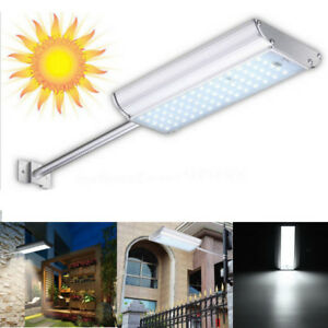 Solar 70 Led Motion Sensor Wall Light Outdoor Waterproof Garden Street Lamp