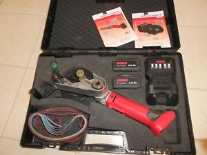 Suhner Abc 7 Belt Sander Grinder 18 Volt Tube Polisher