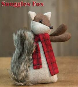 Country Snuggles Fox Doll Rustic Primitive Farmhouse Christmas Winter Fabric
