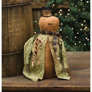 Country Irving Snowman Jacket Doll Rustic Primitive Farmhouse Christmas Winter