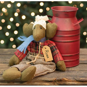 Country Ryan Moose Doll Rustic Primitive Farmhouse Christmas Winter Fabric Coth