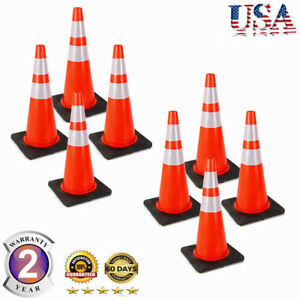 8pcs 28 Durable Traffic Cones Construction Sports Training Soccer Safety Cones