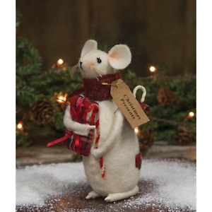 Country Presents Mouse Doll Rustic Primitive Farmhouse Christmas Winter Fabric