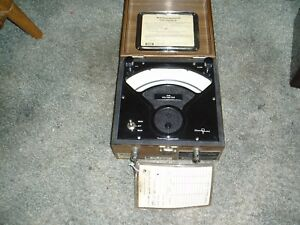 Vintage Singer Sensitive Research Flux Voltmeter