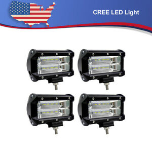 4x 5 Cree Led Work Light Offroad Lamp Ute Boat Atv Rv 4wd Light Bar 12v 24v