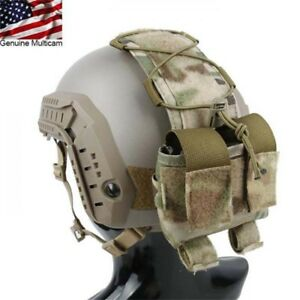 Tactical MK2 Helmet Special MC Camouflage Paste attached Accessory Pouch Bag