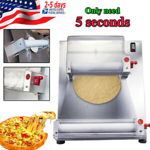 Us Automatic Pizza Bread Dough Roller Sheeter Machine W Food Safe Resin Rollers