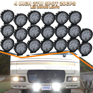 20x 4inch Round Spot Led Driving Fog Lights Off Road Light For Jeep Ford Tractor