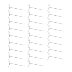 20 Pc Gloss White 8 Long Gridwall Hooks Grid Panel Display Wire Metal Hanger