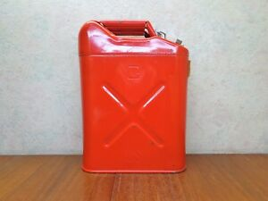 New Us Military Red Metal Gasoline Gas Jerry Can 5 Gallon Willy s Jeep Blitz
