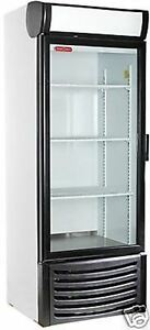 New 1 One Door Glass Soda Display Cooler Refrigeratorled Lighting 27 wx27dx74 h