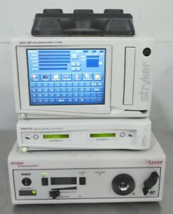 R153988 Stryker Endoscopy Sdc Hd Iswitch W Foot Pedal And X6000 Light Source