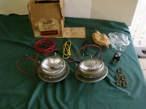 Nos 1956 1955 1954 Mercury Road Lamp Fog Light Buckets Fomoco Oem