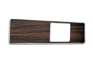 1969 Ford Mustang Deluxe Console Panel Top Plate Dark Walnut Insert 69 13271