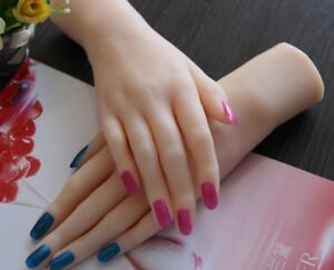 1pc Realistic Lifelike Soft Silicone Female Hand Model Mannequin Display Prop