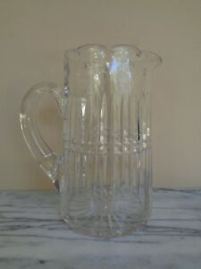 Antique Crystal Glass Pitcher 9