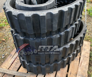 Two Rubber Tracks For Takeuchi Tl12 Tl150 Tl250 450x100x50 Multi Bar Tread