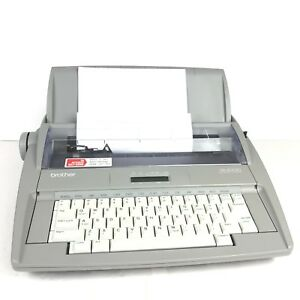 Brother Sx 4000 Electronic Typewriter Lcd Display With Printed Manual