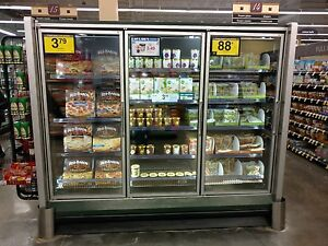 Hussmann Glass Door Freezer 3 Door Model Rl 5 19 1999 Led Lights Beautiful