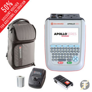 Seaward Apollo 400 Pat Tester Opt Pro Bt Printer Scanner Software Bag